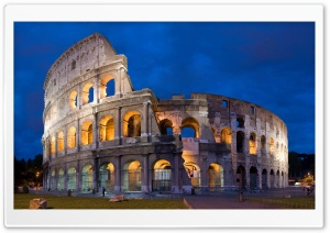 Colosseum By Night HD Wide Wallpaper for Widescreen