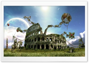 Colosseum Fantazy HD Wide Wallpaper for Widescreen