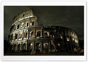 COLOSSEUM NIGHT SIDE HD Wide Wallpaper for Widescreen