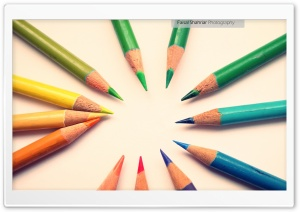 Colour Pencils HD Wide Wallpaper for Widescreen