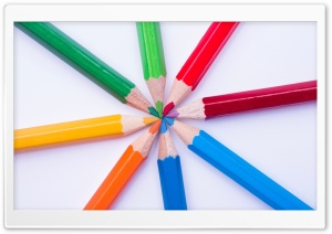 Coloured Pencils HD Wide Wallpaper for Widescreen