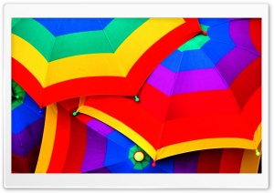 Colourful Umbrella HD Wide Wallpaper for Widescreen