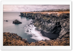 Columnar Basalt Coast Iceland HD Wide Wallpaper for 4K UHD Widescreen desktop & smartphone