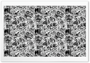 Comics Black And White HD Wide Wallpaper for Widescreen