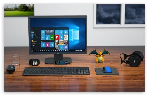Computer Desk HD Desktop Wallpaper Widescreen High