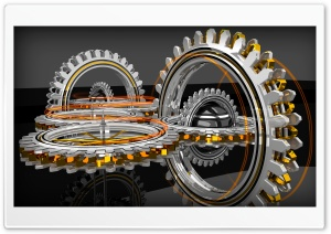 Concentric Gears HD Wide Wallpaper for Widescreen