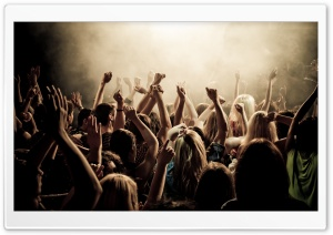 Concert Crowd HD Wide Wallpaper for Widescreen