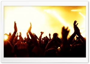 Concert Hands In The Air HD Wide Wallpaper for Widescreen