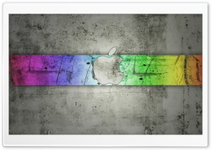 Concrete Apple Logo HD Wide Wallpaper for Widescreen