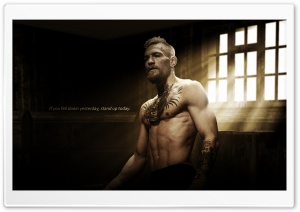 Conor McGregor Motivational Quote HD Wide Wallpaper for 4K UHD Widescreen desktop & smartphone