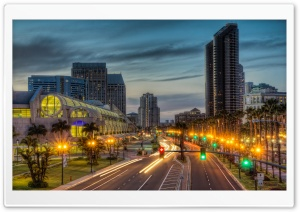 Convention Center on Harbor HD Wide Wallpaper for Widescreen