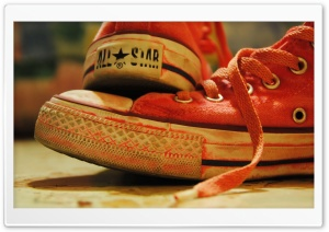 Converse Red Sneakers HD Wide Wallpaper for Widescreen