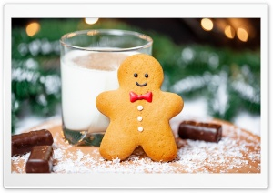 Cookie and Milk for Santa Ultra HD Wallpaper for 4K UHD Widescreen desktop, tablet & smartphone