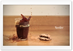 Cookie Splash HD Wide Wallpaper for Widescreen