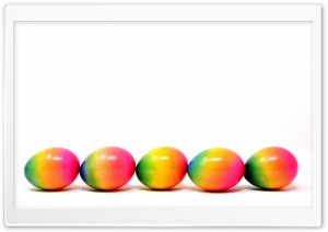 Cool Easter Dyed Eggs HD Wide Wallpaper for 4K UHD Widescreen desktop & smartphone