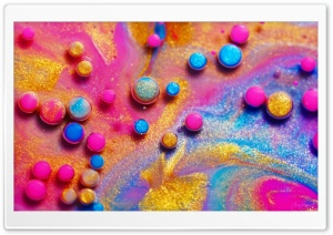 Cool Glitter Rainbow Colors, Bubbles, Macro HD Wide Wallpaper for 4K UHD Widescreen desktop & smartphone