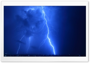 Cool Lightning Strikes HD Wide Wallpaper for Widescreen