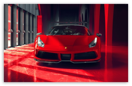 Download Cool Red Ferrari Car 2018 UltraHD Wallpaper