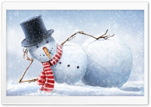 Cool Snowman HD Wide Wallpaper for Widescreen
