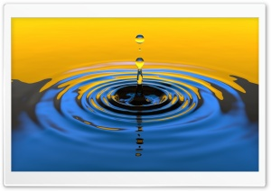 Cool Water Drops HD Wide Wallpaper for Widescreen