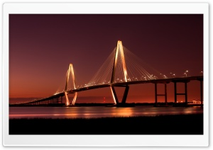Cooper River Bridge HD Wide Wallpaper for Widescreen