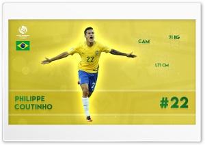 Copa America - Philippe Coutinho HD Wide Wallpaper for Widescreen