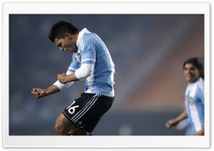 Copa America Argentina 2011 - Sergio Aguero HD Wide Wallpaper for Widescreen