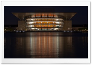 Copenhagen Opera House, Denmark HD Wide Wallpaper for Widescreen