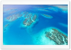 Coral Reef Aerial View HD Wide Wallpaper for Widescreen
