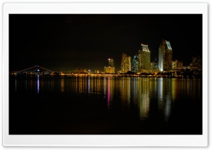 Coronado Island At Night HD Wide Wallpaper for Widescreen