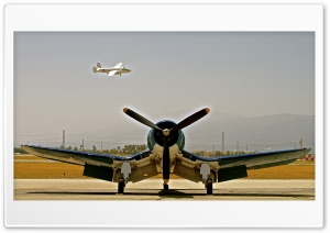 Corsair Meets B-25 HD Wide Wallpaper for Widescreen