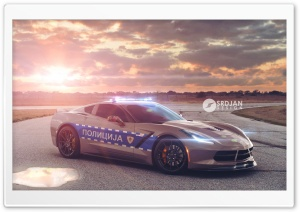 Corvette C7 Stingray Police HD Wide Wallpaper for Widescreen
