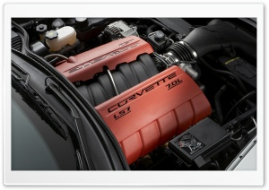 Corvette LS7 7.0L Engine HD Wide Wallpaper for Widescreen