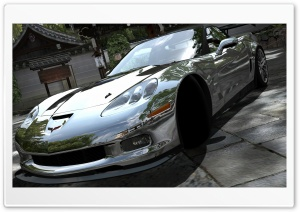 Corvette ZR1 Chrome HD Wide Wallpaper for Widescreen
