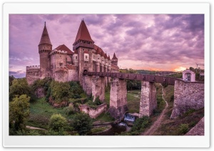 Corvin Castle, Hunedoara, Romania, Europe HD Wide Wallpaper for 4K UHD Widescreen desktop & smartphone
