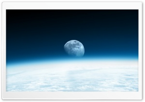 Cosmos Moon Sky HD Wide Wallpaper for Widescreen