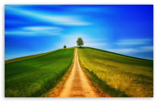 Download Country Road, Hill HD Wallpaper
