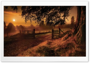 Countryside Road Gate HD Wide Wallpaper for Widescreen
