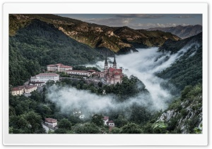 Covadonga Village Spain HD Wide Wallpaper for 4K UHD Widescreen desktop & smartphone