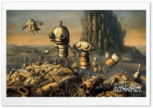 Cover, Machinarium Game Ultra HD Wallpaper for 4K UHD Widescreen desktop, tablet & smartphone