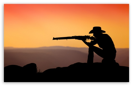 Cowboy Shooting In The Sunset HD wallpaper for Wide 16:10 5:3 Widescreen WHXGA WQXGA WUXGA WXGA WGA ; HD 16:9 High Definition WQHD QWXGA 1080p 900p 720p QHD nHD ; Standard 4:3 5:4 3:2 Fullscreen UXGA XGA SVGA QSXGA SXGA DVGA HVGA HQVGA devices ( Apple PowerBook G4 iPhone 4 3G 3GS iPod Touch ) ; Tablet 1:1 ; iPad 1/2/Mini ; Mobile 4:3 5:3 3:2 16:9 5:4 - UXGA XGA SVGA WGA DVGA HVGA HQVGA devices ( Apple PowerBook G4 iPhone 4 3G 3GS iPod Touch ) WQHD QWXGA 1080p 900p 720p QHD nHD QSXGA SXGA ;