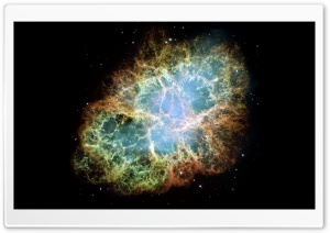 Crab Nebula HD Wide Wallpaper for Widescreen