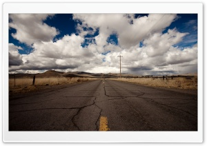 Cracked Road HD Wide Wallpaper for Widescreen