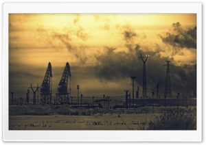 Cranes And Power Lines HD Wide Wallpaper for Widescreen