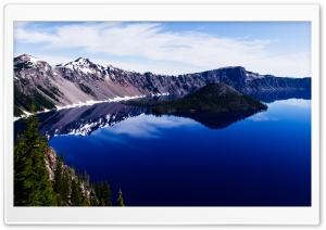 Crater Lake Panorama HD Wide Wallpaper for 4K UHD Widescreen desktop & smartphone