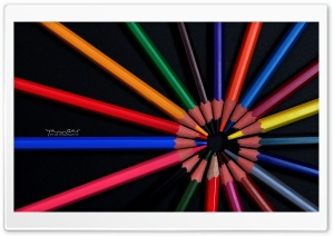 Crayons HD Wide Wallpaper for Widescreen