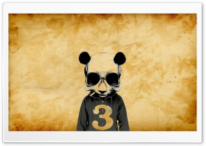 Crazy Panda - Full HD HD Wide Wallpaper for Widescreen