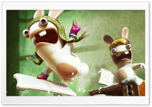 Crazy Rabbids HD Wide Wallpaper for Widescreen