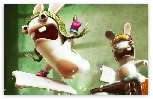 Crazy Rabbids HD wallpaper for Wide 16:10 5:3 Widescreen WHXGA WQXGA WUXGA WXGA WGA ; HD 16:9 High Definition WQHD QWXGA 1080p 900p 720p QHD nHD ; Standard 3:2 Fullscreen DVGA HVGA HQVGA devices ( Apple PowerBook G4 iPhone 4 3G 3GS iPod Touch ) ; Mobile 5:3 3:2 16:9 - WGA DVGA HVGA HQVGA devices ( Apple PowerBook G4 iPhone 4 3G 3GS iPod Touch ) WQHD QWXGA 1080p 900p 720p QHD nHD ;