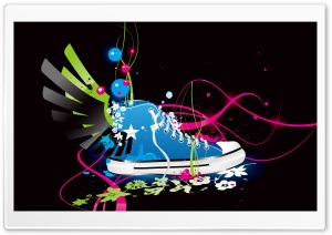 Creative Sneaker HD Wide Wallpaper for Widescreen